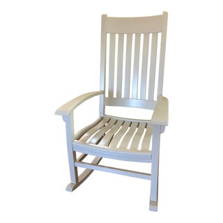 Traditional Hand-Crafted White Maple Rocking Chair For Sale