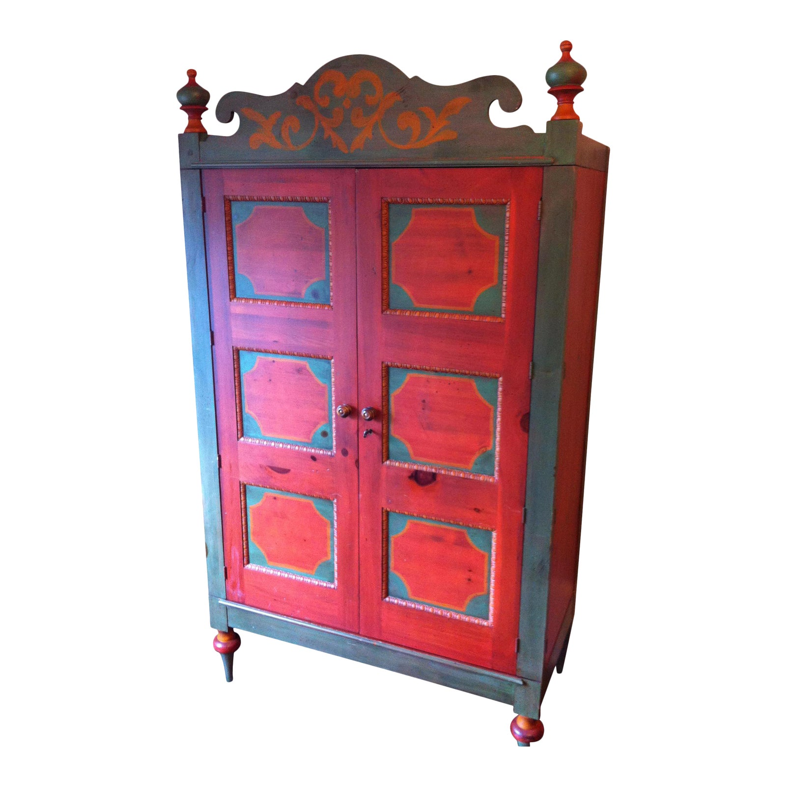Painted Knotty Pine Cabinets: Romweber Painted Knotty Pine Armoire