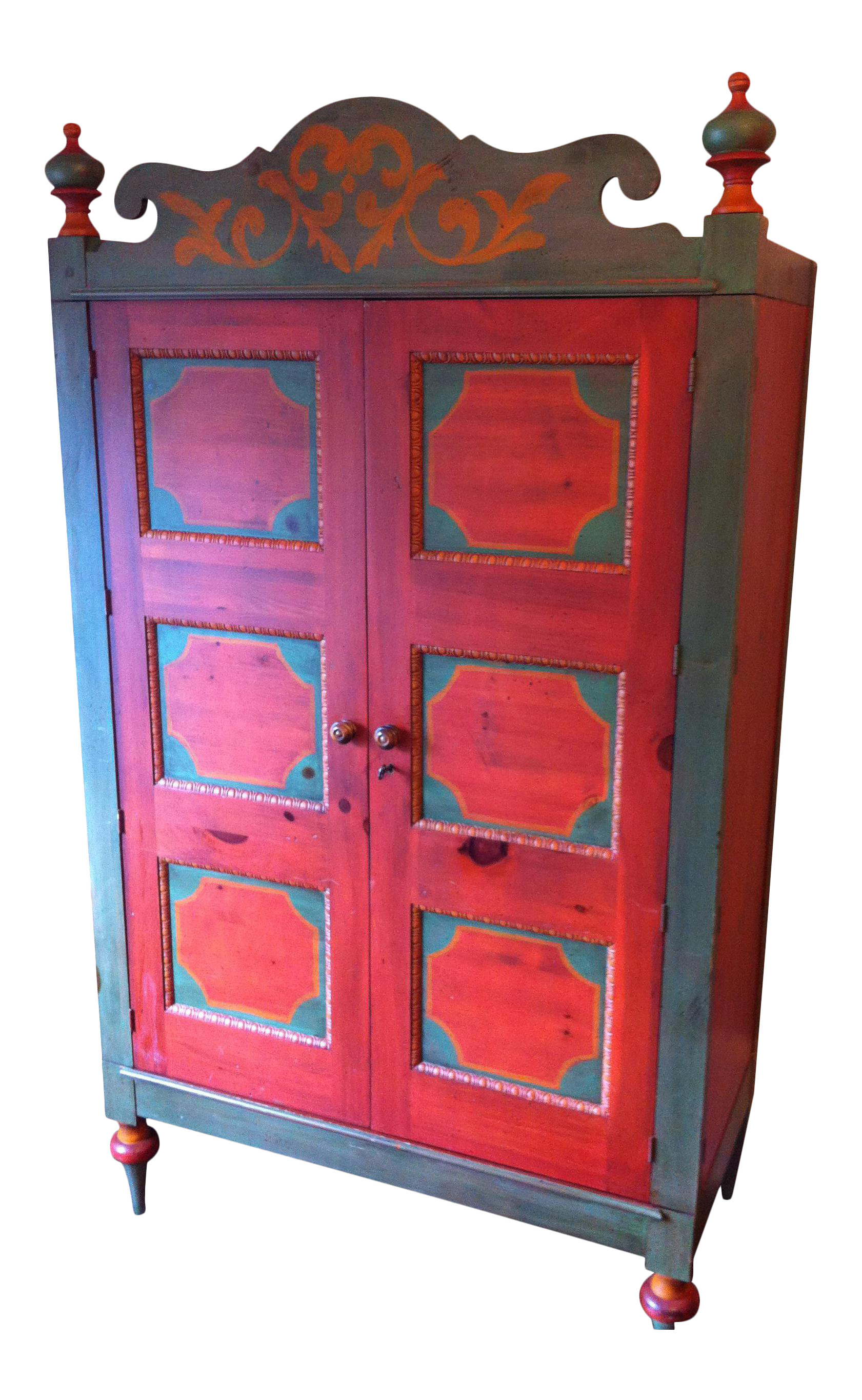 Romweber Painted Knotty Pine Armoire