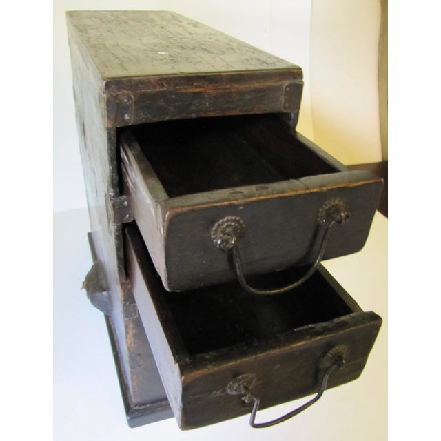 1910s 1910s Black Wooden Chinese Bellows Box For Sale - Image 5 of 9