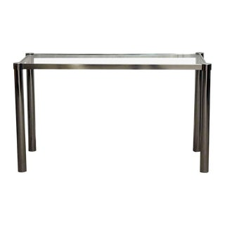 1980s Modern Glass & Chrome Table For Sale