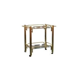 Brass Modernist Bar Cart