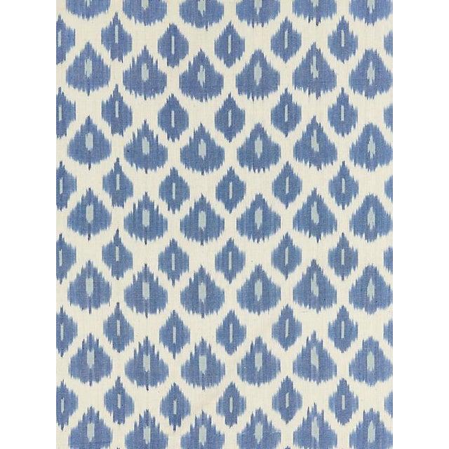 Boho Chic Scalamandre Amara Ikat Weave, Lapis Fabric For Sale - Image 3 of 3