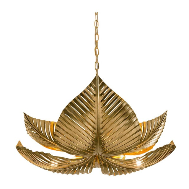 Large Palm Pendant Light For Sale - Image 4 of 4