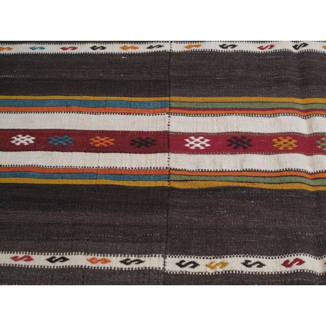 Banded Kilim For Sale In New York - Image 6 of 6