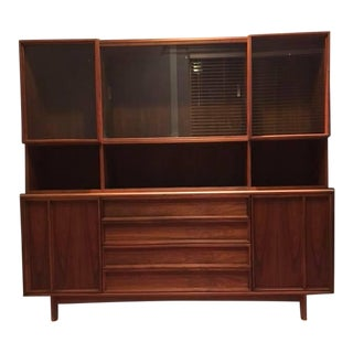 Mid-Century Modern Sideboard + Hutch For Sale