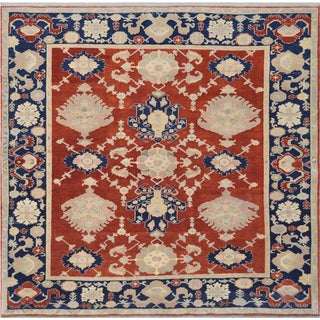 Mansour High Quality Square Handmade Turkish Rug