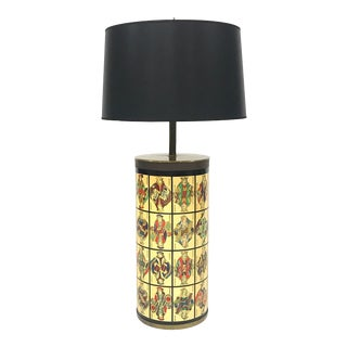 Large Cylindrical Table Lamp by Piero Fornasetti For Sale