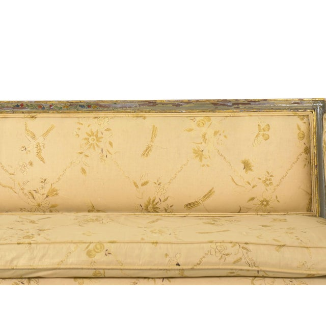 Italian Neoclassical Gray Polychrome Painted Settee Sofa Canape, Early 19th Century For Sale - Image 6 of 13