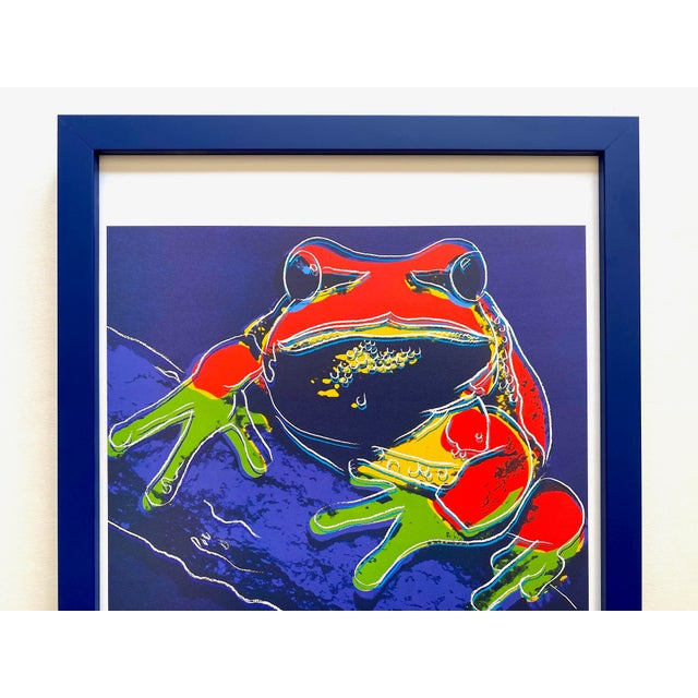 """This Andy Warhol Estate rare vintage 1989 Endangered Species custom framed collector's offset lithograph print """" Pine..."""