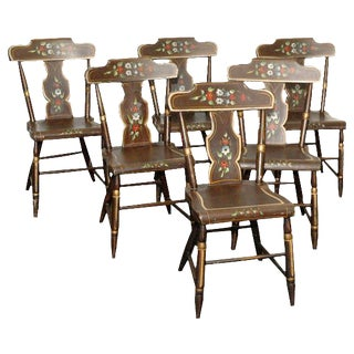 Painted Chairs - Set of 6 For Sale