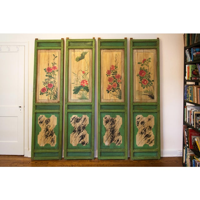 Chinese Painted Door Panels - 4 Pieces For Sale - Image 13 of 13