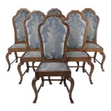 Image of Late 19th Century French Mahogany Dining Chairs- Set of 6 For Sale