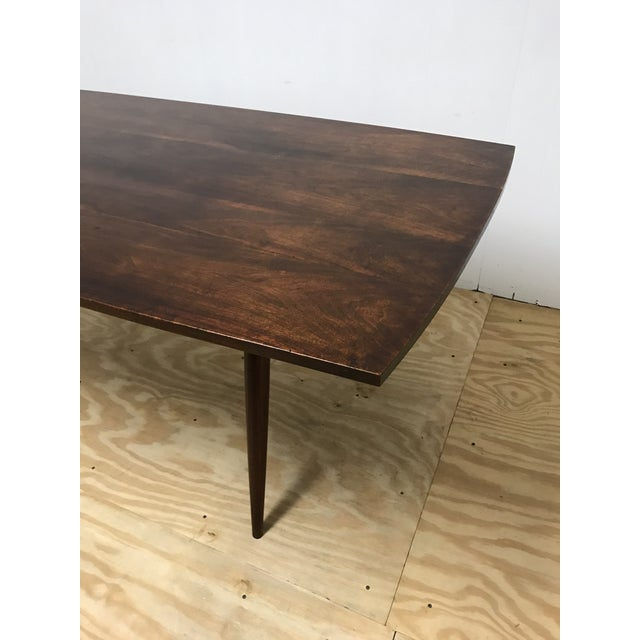 1950s Mid-Century Modern American Studio Craft Solid Walnut Dining Set - 5 Pieces For Sale - Image 5 of 13