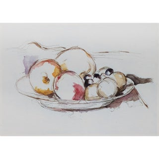1959 Fruits Still Life Large Lithograph Print by Paul Cezanne