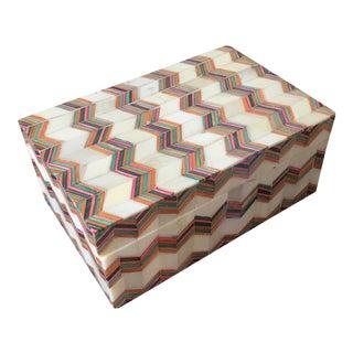Chevron Pattern Bone Box