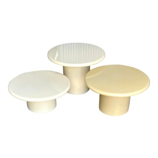 Contemporary Trio of Lacquered Drinks Tables For Sale