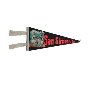 Vintage San Simeon, Cal. Felt Flag Pennant For Sale