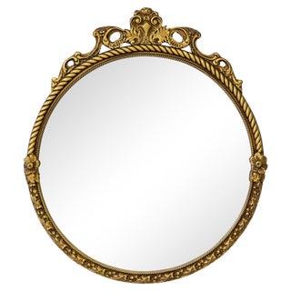 Giltwood Louis XV Circular Mirror For Sale