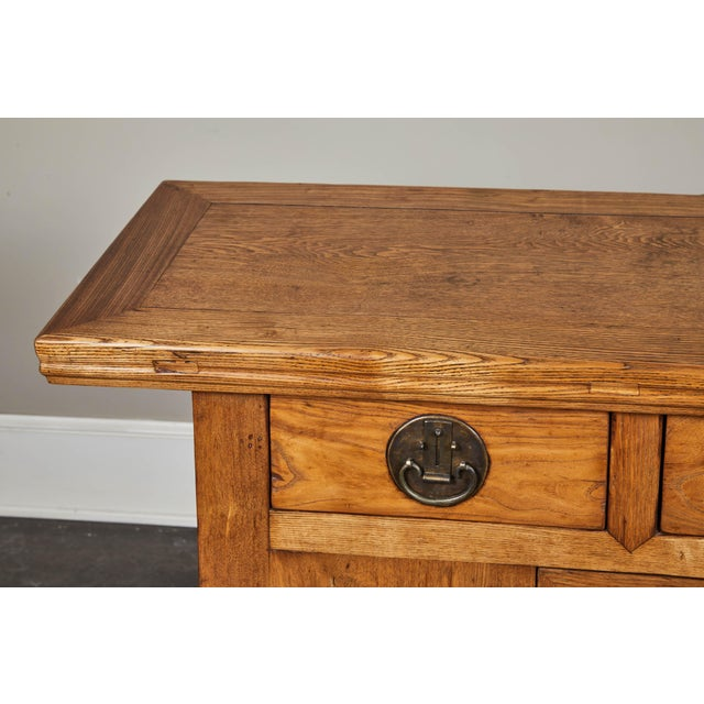 Late 19th Century 19th C. Chinese Elm Sideboard For Sale - Image 5 of 9