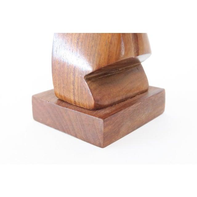Wood Tiki Head Glasses Holder - Image 6 of 6