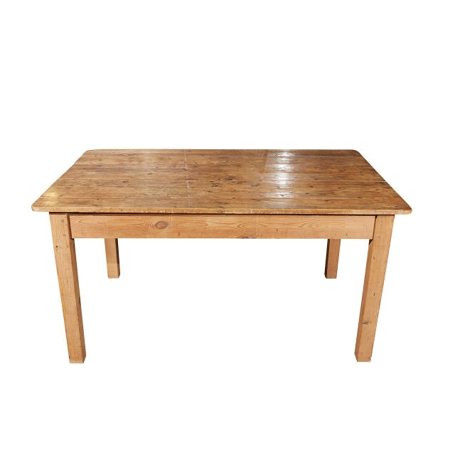 Pine Rustic Country Pine Table For Sale - Image 7 of 7