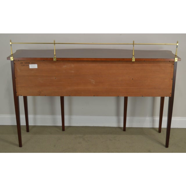 Ethan Allen 18th Century Collection Mahogany Inlaid Hepplewhite Style Sideboard For Sale In Philadelphia - Image 6 of 13