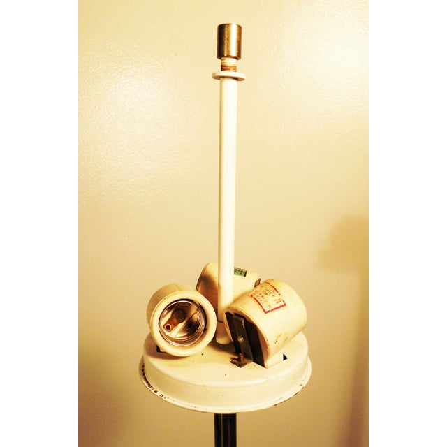 Mid-Century Chrome & Marble Pencil Floor Lamp - Image 6 of 8