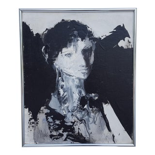 1974 Gino Hollander Figural Expressionist Abstract Painting For Sale