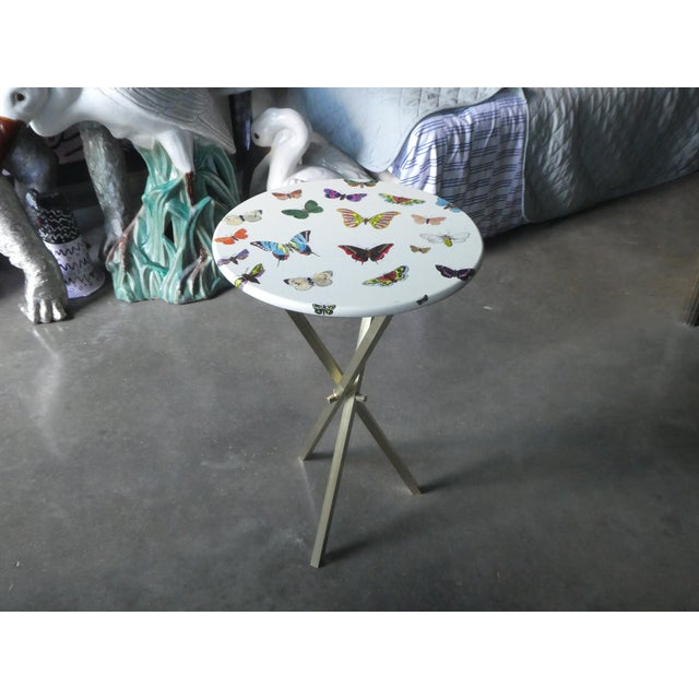 1960s Mid-Century Modern Fornasetti Butterfly Side Table For Sale In Miami - Image 6 of 9