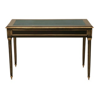 French Louis XVI Style Ebonized Writing Desk For Sale