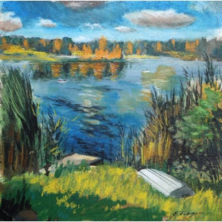 Erik Freyman, Lake in the Country, Pastels For Sale