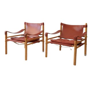 Pair of Arne Norell Sirocco Chairs For Sale