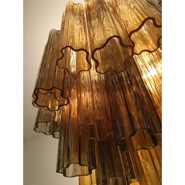 """Contemporary Murano Glass """"Tronchi"""" Chandelier For Sale - Image 6 of 12"""