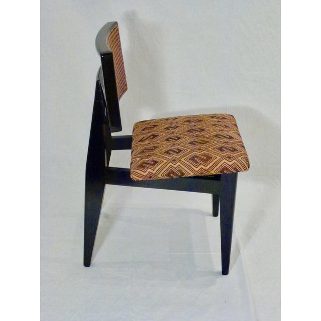 1940s George Nelson for Herman Miller Cane Back Side Chair With Kuba Cloth Seat For Sale - Image 5 of 11