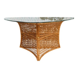 Danny Ho Fong Rattan Dining Table