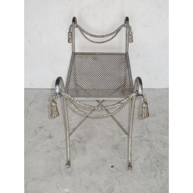 Regency Style Metal Bench For Sale In Miami - Image 6 of 7