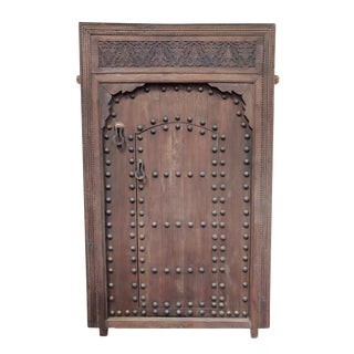 Vintage Moroccan Wood Door