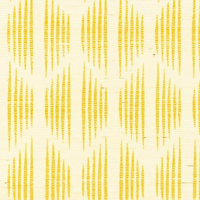 Schumacher X David Oliver Ovington Sisal Wallpaper in Yellow For Sale