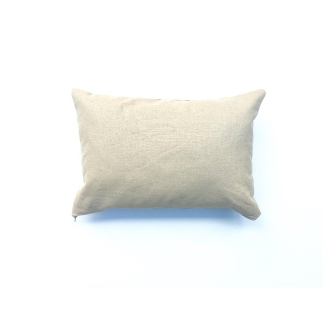 Hand-Dyed Beige Tribal Pillow Cover - Image 5 of 5