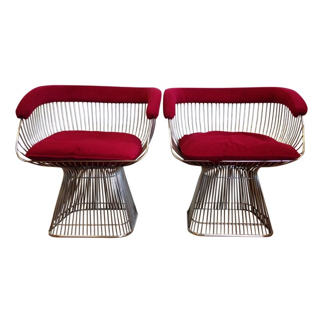 Vintage Warren Platner Style Chairs - A Pair - Image 1 of 5