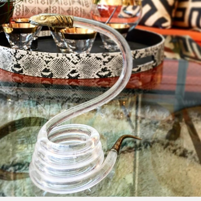 Alessandro Albrizzi Coiled Lucite Snake For Sale - Image 5 of 6