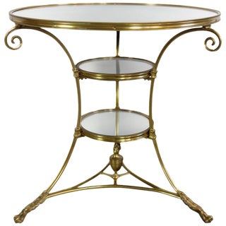 Mirrored Brass Bistro Table From Bruges, Belgium Circa 1970 For Sale