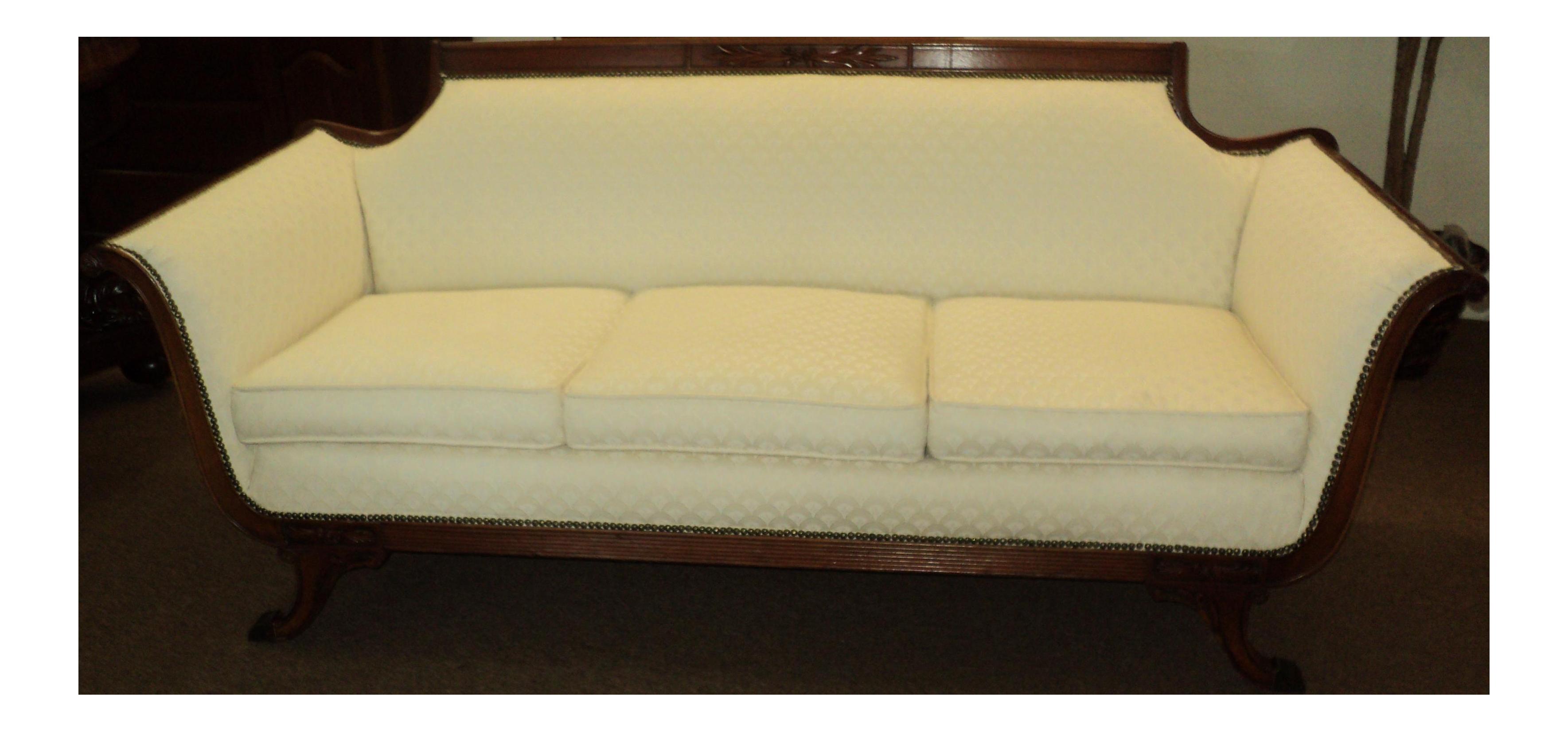 1940s vintage duncan phyfe federal style sofa chairish rh chairish com