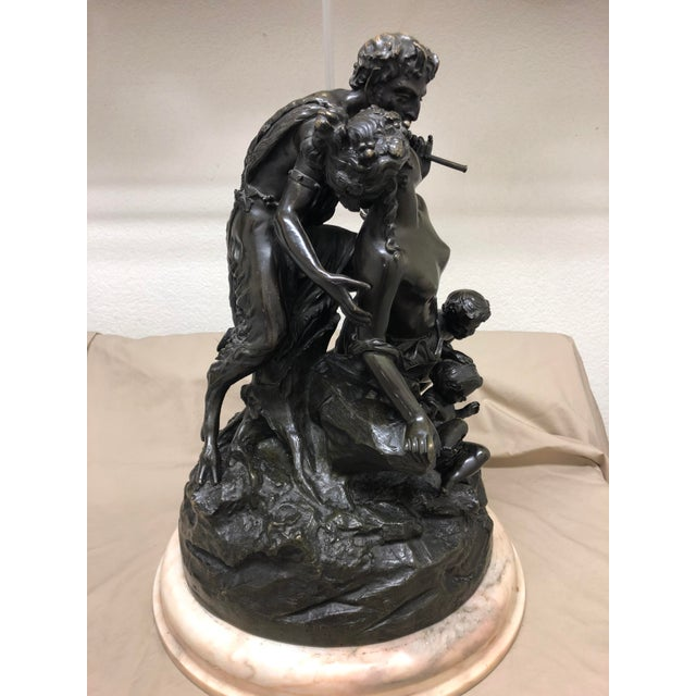 Brown Late 19th Century Antique Clodion French Figural Bronze Sculpture For Sale - Image 8 of 11