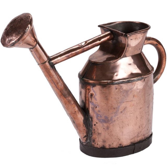 Late 19th Century English Watering Can in Copper From Mid-19th Century For Sale - Image 5 of 5
