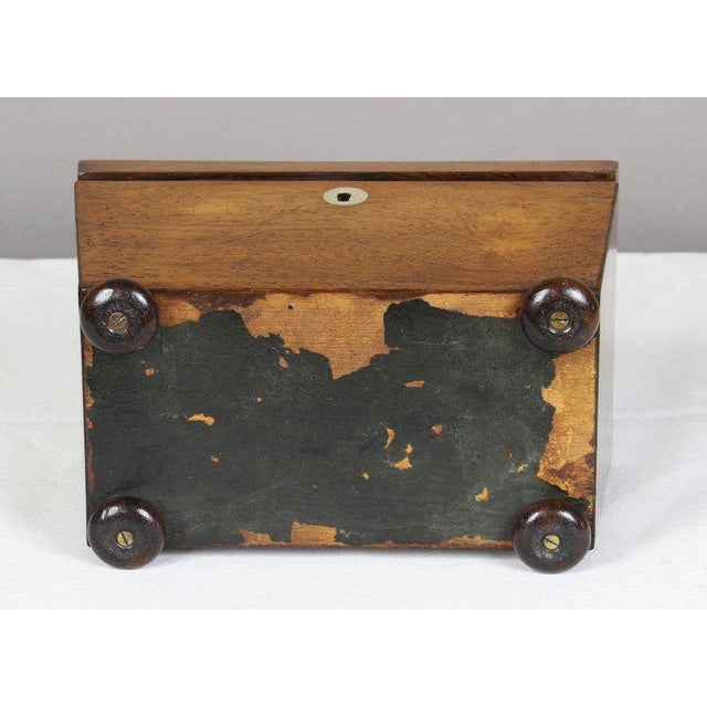 Regency Mahogany Sarcophagus Form Tea Caddie For Sale - Image 9 of 11