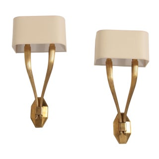Visual Comfort Ruhlmann Double Sconces by e.f. Chapman - Pair For Sale