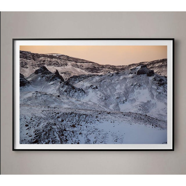 Contemporary Purple Mountains Glacier Photo Unframed For Sale - Image 3 of 4