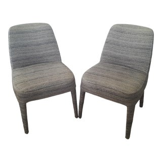 Maxalto by Antonio Citterio Febo Upholstered Fabric Side Chairs - a Pair For Sale